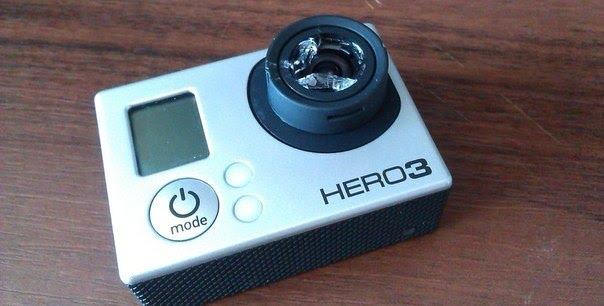 разбитая камера gopro